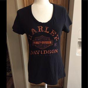 🦋 Harley-Davidson T-shirt Sz L